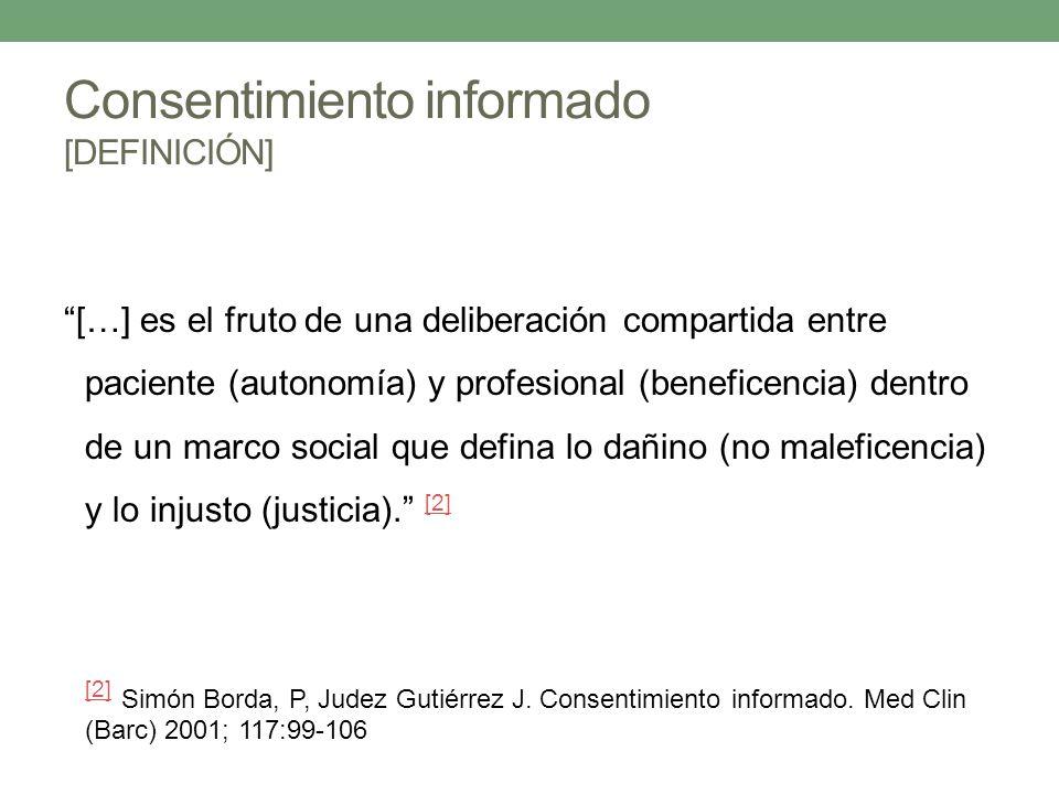 Consentimiento informado [DEFINICIÓN]